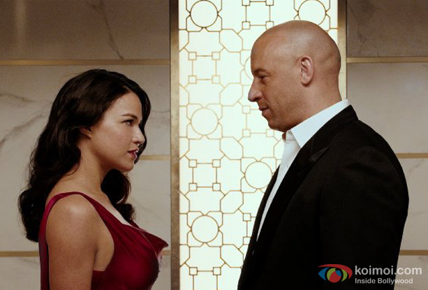 Vin Diesel and Michelle Rodriguez in a still from movie 'Furious 7'