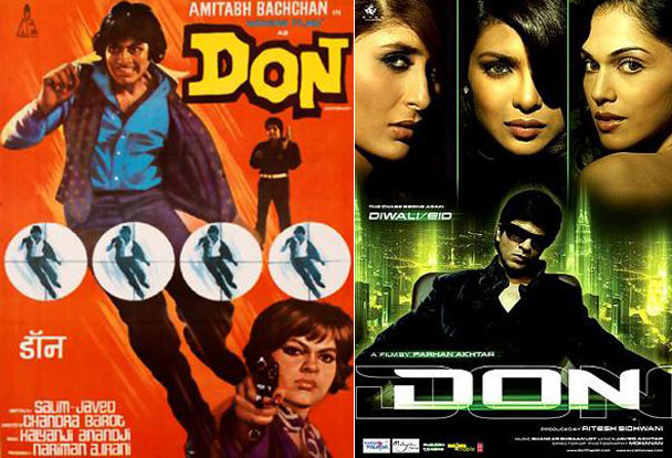 Don (1978) and Don (2006) Movie Poster