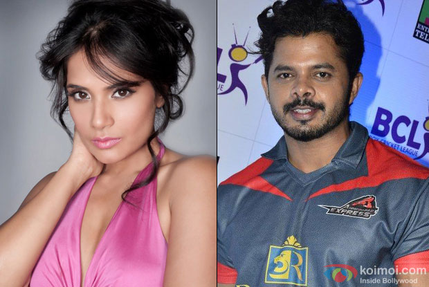 Richa Chadda and S. Sreesanth