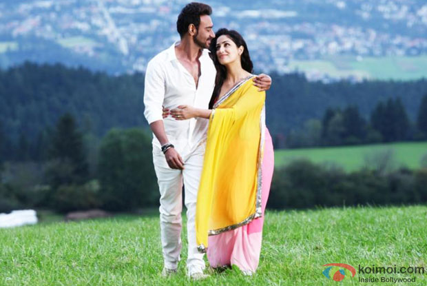 Ajay Devgn and Yami Gautam in a 'Dhoom Dhaam' song still from movie 'Action Jackson'