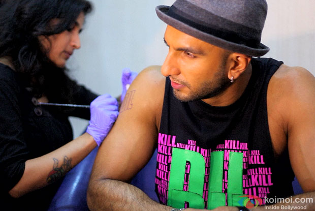 Ranveer Singh at 6th Indian Ink International Tattoo Convention