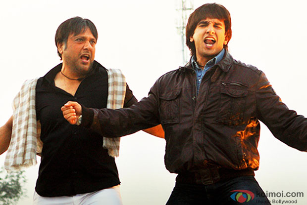 Govinda and Ranveer Singh in a still from movie 'Kill Dil'