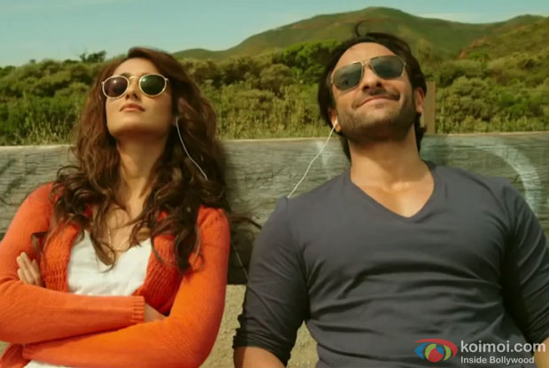 Ileana D'Cruz and Saif Ali Khan in a still from movie 'Happy Ending'
