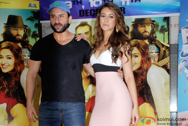 Saif Ali Khan and Ileana DCruz during the promotion of 'Happy Ending'