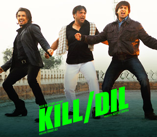 Ali Zafar, Govinda and Ranveer Singh in a 'Kill Dil' song still from movie 'Kill Dil'