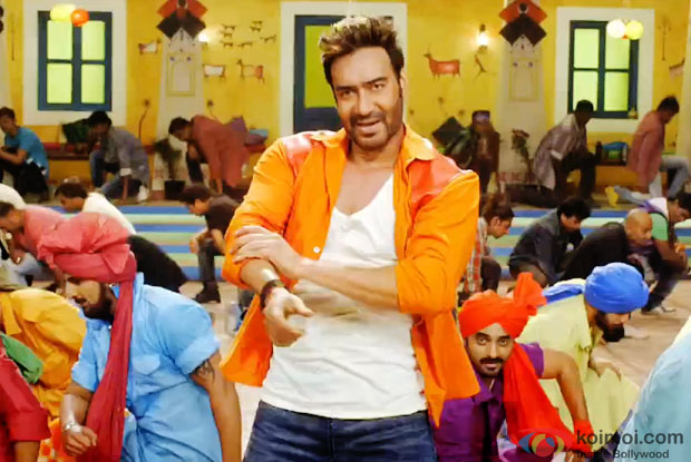 Ajay Devgn in a song 'Punjabi Mast' from movie 'Action Jackson'