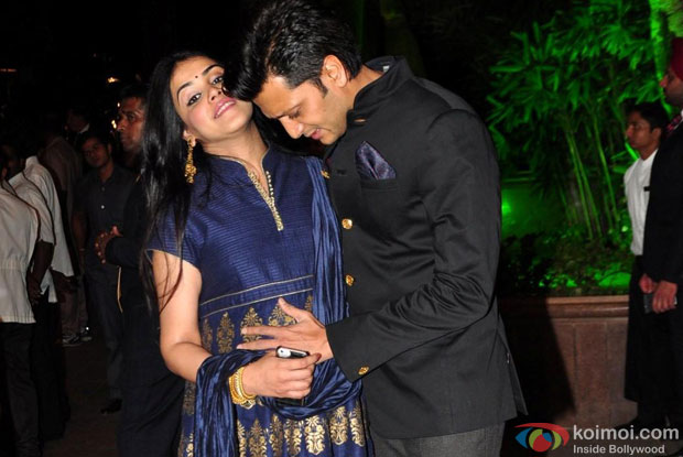 Genelia D'Souza and Tireish Deshmukh at an event