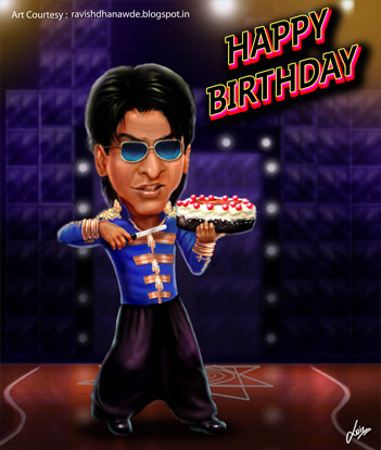 Charlie AKA Shah Rukh Khan Cuts His Birthday Cake Fanmade