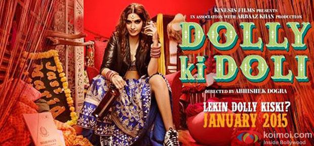 Sonam Kapoor in a 'Dolly Ki Doli' movie poster