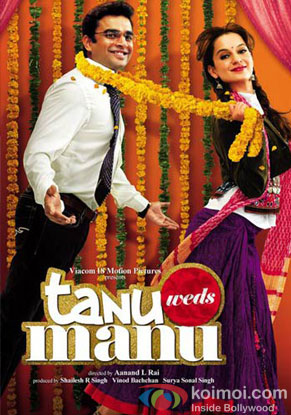 R. Madhavan and Kangana Ranaut in a 'Tanu Weds Manu' movie poster