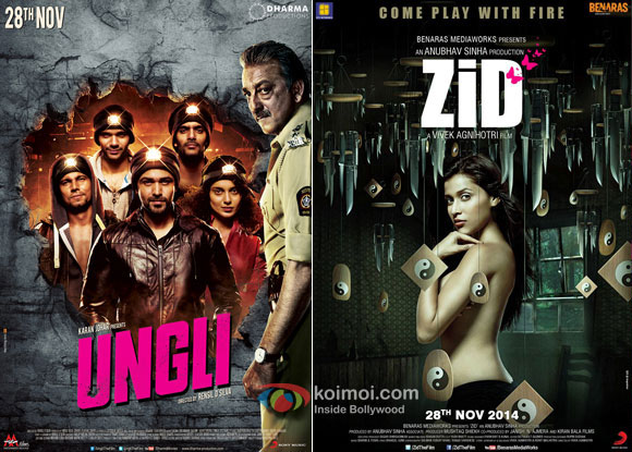 'Ungli' 'Zid' Movie Poster