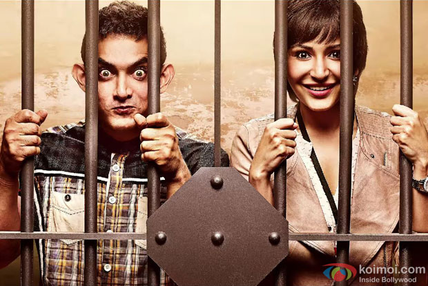 Aamir Khan and Anushka Sharma in a still from movie 'PK'