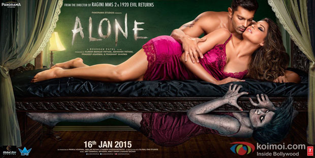 Karan Singh Grover and Bipasha Basu starrer 'Alone' Movie Poster