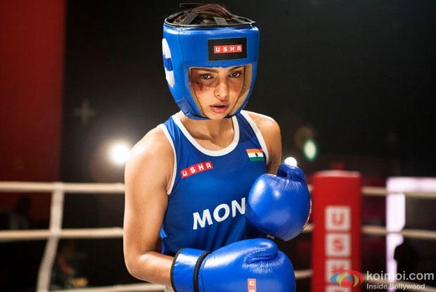Priyanka Chopra in a still from movie 'Mary Kom'