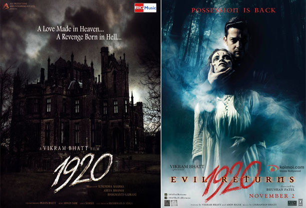 1920 (2008) and 1920: Evil Returns (2012) Movie Posters