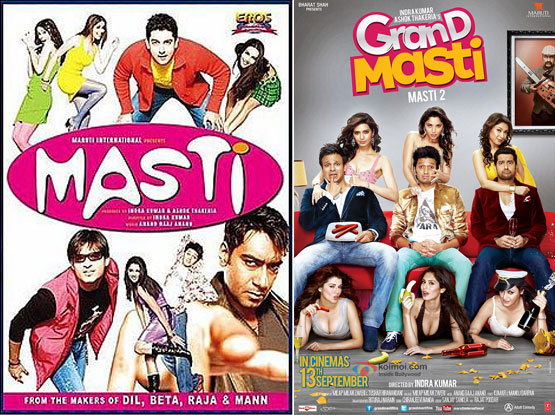 Masti (2004) and Grand Masti (2013) Movie Posters