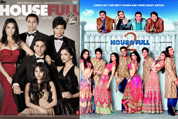 Housefull (2010) and Housefull 2 (2012) Movie Posters
