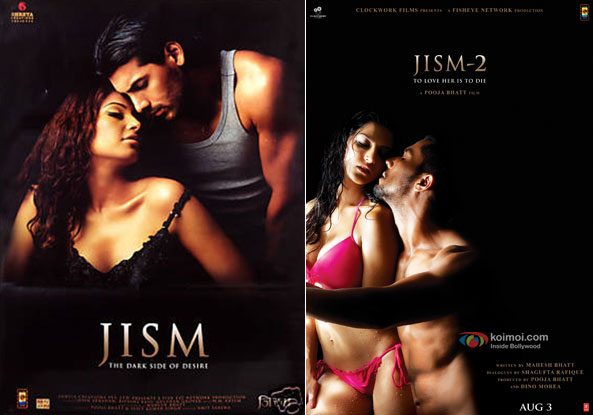 Jism (2003) and Jism 2 (2012) Movie Posters