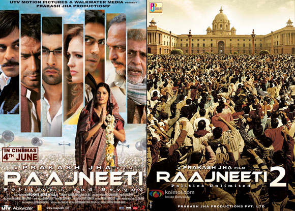 Raajneeti (2010) and Raajneeti 2 (2015) Movie Posters