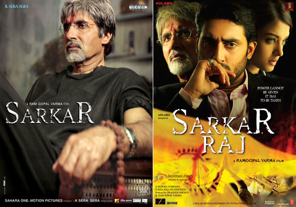 Sarkar (2005) and Sarkar Raj (2008) Movie Posters