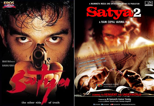 Satya (1998) and Satya 2 (2013), Movie Posters