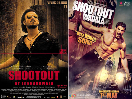 Shootout At Lokhandwala (2007) and Shootout At Wadala (2013) Movie Posters