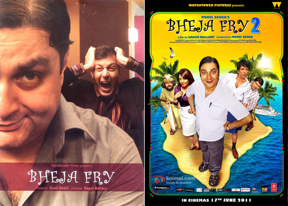 Bheja Fry (2007) and Bheja Fry 2 (2011) Movie Posters