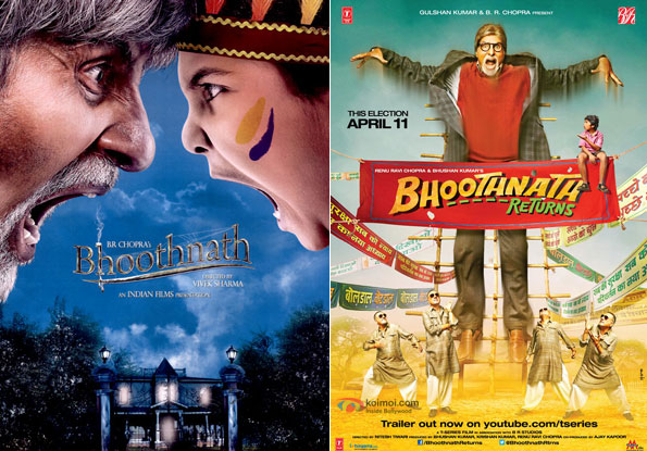 Bhoothnath (2008) and Bhoothnath Returns (2014) Movie Posters