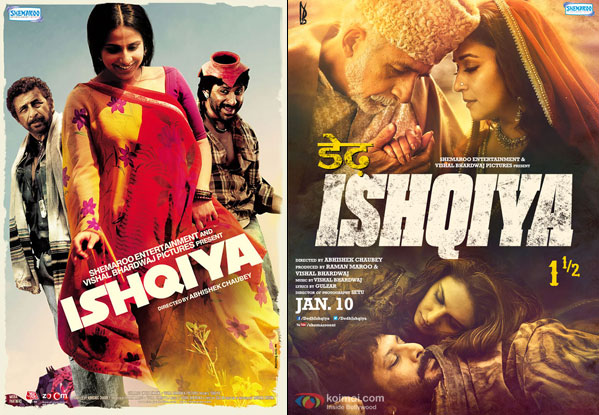 Ishqiya (2010) and Dedh Ishqiya (2014) Movie Posters