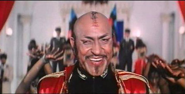 Amrish Puri as General Dong in a still from movie 'Tahalka (1992)'