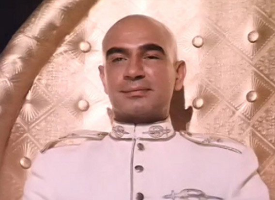 Kulbhushan Kharbanda as Shakaal in a still from movie 'Shaan (1980)'