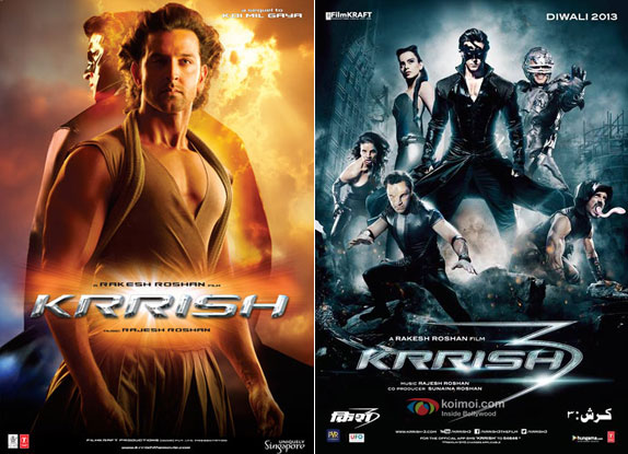 Krrish (2006) and Krrish 3 (2013) Movie Poster