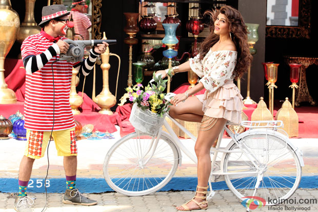 Jacqueline Fernandez in a still from movie 'Roy'