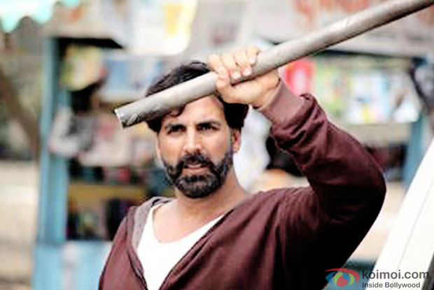 Akshay Kumar in a still from movie 'Main Gabbar'