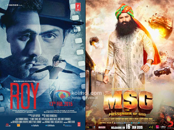 'Roy' and 'MSG The Messenger Of God' movie posters