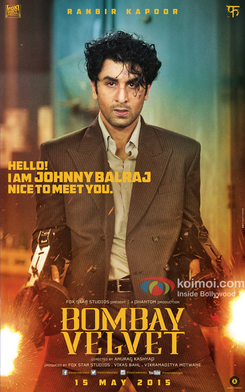 Ranbir Kapoor in a 'Bombay Valvet' movie poster