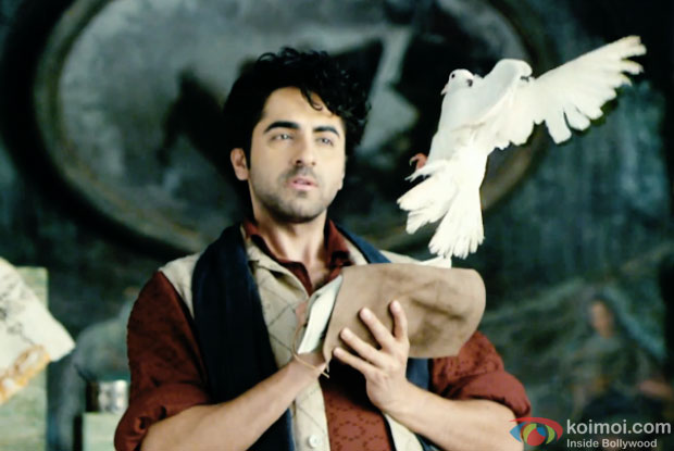 Ayushmann Khurrana in a still from movie 'Hawaizaada'