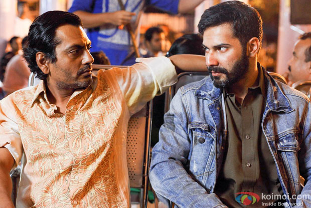 Nawazuddin Siddiqui and Varun Dhawan in a still from movie 'Badlapur'