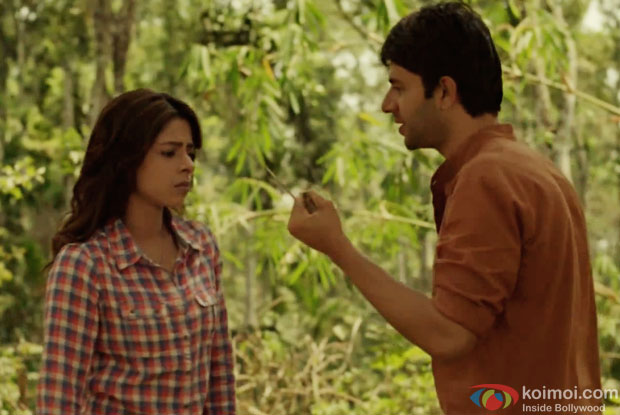 Sugandha Garg and Arjun Mathur in a still from movie 'Coffee Bloom'