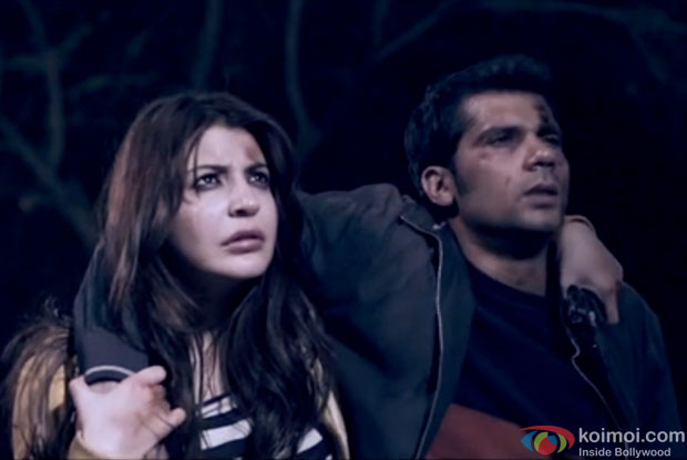 Anushka Sharma and Neil Bhoopalam in a still from movie 'NH10'