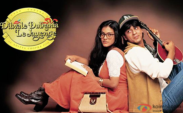 Kajol and Shah Rukh Khan in a still from 'Dilwale Dulhaniya Le Jayenge' movie poster