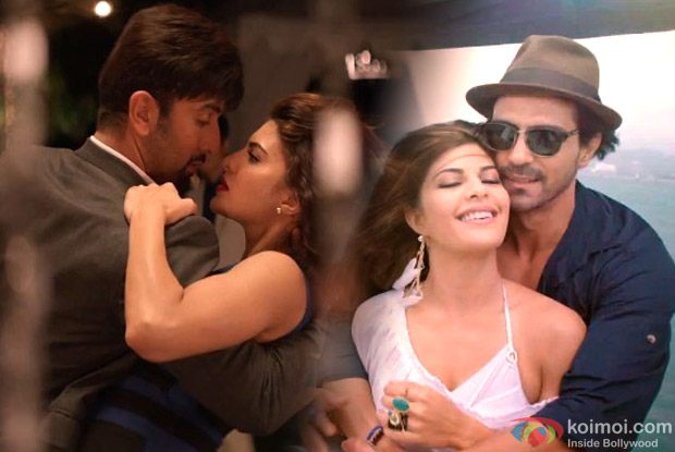 Ranbir Kapoor, Jacqueline Fernandez and Arjun Rampal in a still from movie 'Roy'