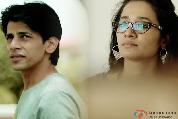 Amaan F Khan and Tannishtha Chatterjee in a still from movie 'Rough Book'