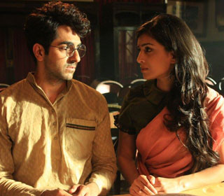 Ayushmann Khurrana and Pallavi Sharda in a 'Teri Dua' song still from movie 'Hawaizaada'