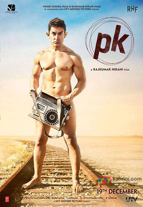 Aamir Khan in a still from 'PK' movie poster