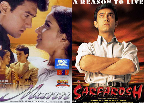 Mann (1999) and Sarfarosh (1999) Movie Poster