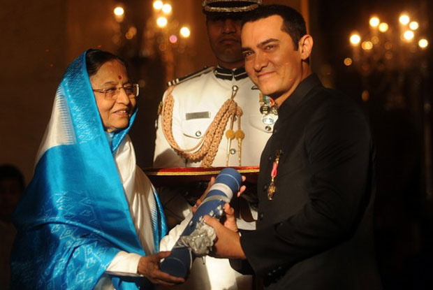 Aamir Khan was honored by Padma Bhushan Award in 2010