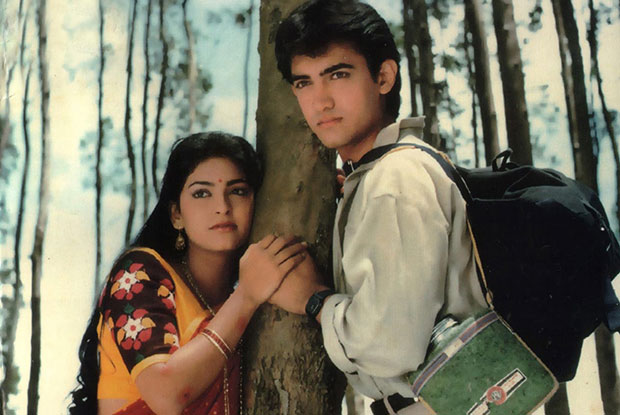 Juhi Chawla and Aamir Khan in a still from movie 'Qayamat Se Qayamat Tak (1988)'