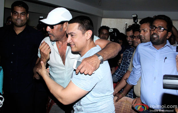 Aamir Khan Celebrates His Birthday With Jackie Shroff And  Media In Advance