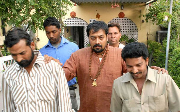 Anurag Kashyap in a still from movie 'Shagird (2011)'